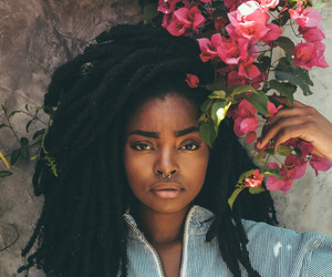 beautiful, dreads, and black woman image