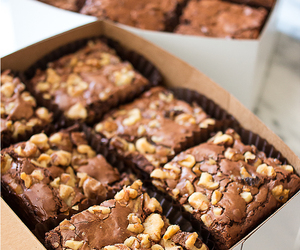 baking, brownies, and delicious image
