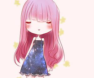 anime, universe, and anime girl image
