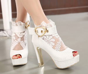 cute shoes, fashion, and hearts image