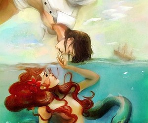 ariel, mermaid, and disney image