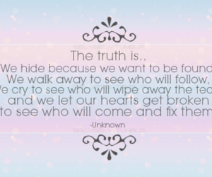 quote, truth, and broken image