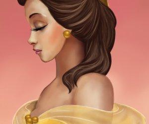 beautiful, princess belle, and disney art image