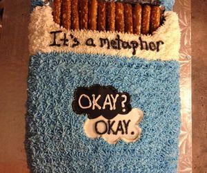 the cake, okay? okay, and it's a metaphor image