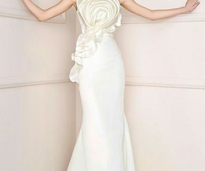 fashion, gown, and white image