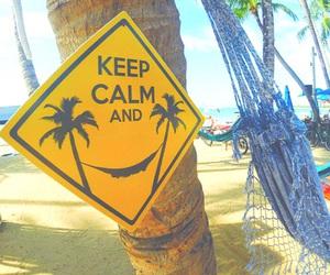 beach, summer, and keep calm image