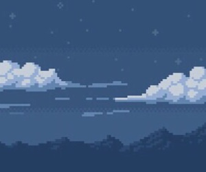 blue, pixel, and aesthetic image