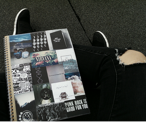 grunge, black, and nirvana image