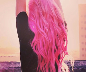 hair, long hair, and pink hair image