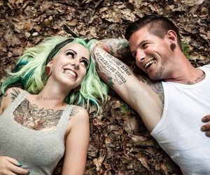 couple, tattoo, and love image
