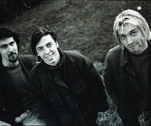 nirvana, dave grohl, and kurt cobain image