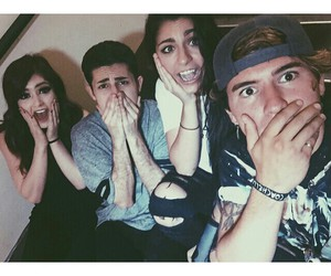 andrea russett, jc caylen, and chrissy costanza image