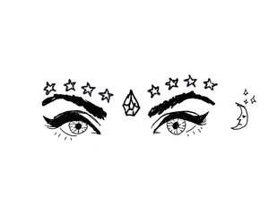 draw, stars, and eyes image