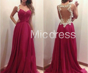evening gown, fashion, and prom dress image