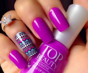 nails, beauty, and purple image