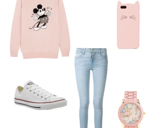 converse, jeans, and mickey image
