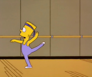 bart, ballet, and simpsons image