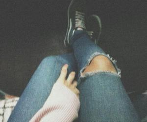 blue jeans, grunge, and pale image