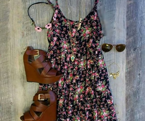 clothes, flowers, and short image