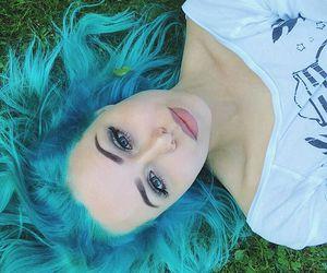 alt girl, scene, and blue hair image