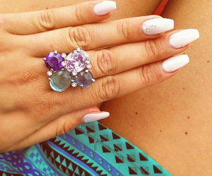 bling, fashion, and long nails image