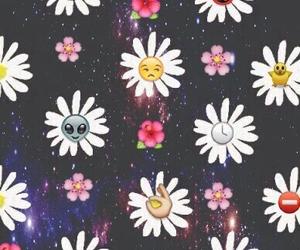 flowers, emoji, and wallpaper image
