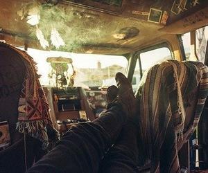 hippie, car, and smoke image