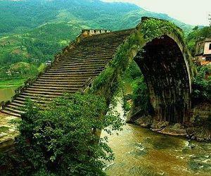 bridge, china, and nature image
