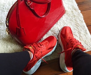 red, Louis Vuitton, and nike image