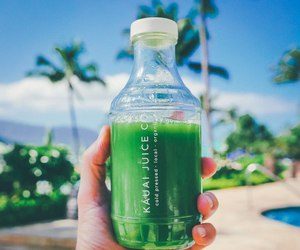 food, juice, and green image