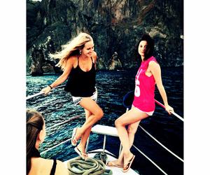 girls, happy, and sea image