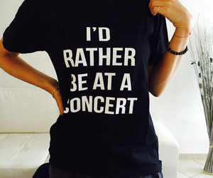 black, concert, and etsy image
