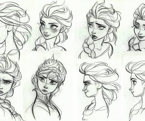 disney, draw, and frozen image