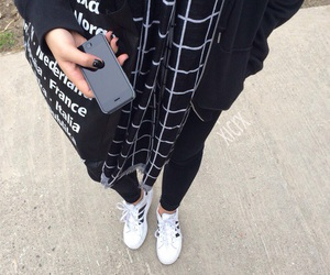 fashion, black, and adidas image