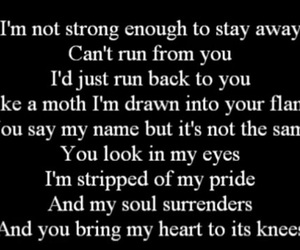 Lyrics, apocalyptica, and not strong enough image
