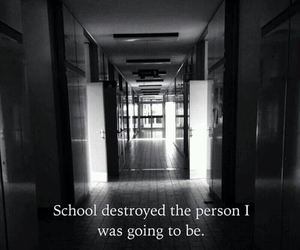 quote, sad, and school image