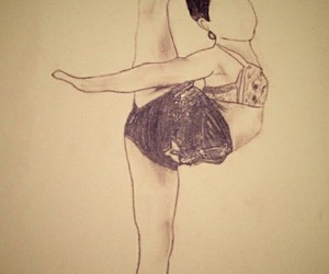 dance, drawing, and flexibility image
