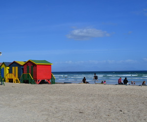 beach, colourfull, and south africa image