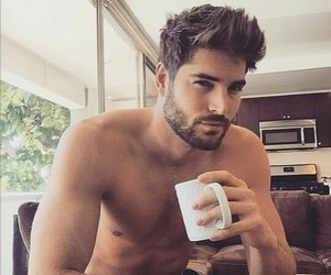 coffee, handsome, and stubble image