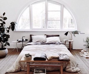 bedroom, white, and home image