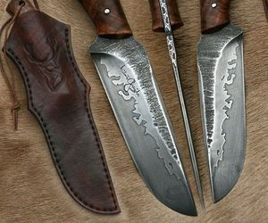 hunting, knives, and man image