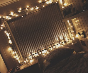 bed, lights, and relax image