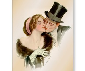 couple, edwardian, and elegant image