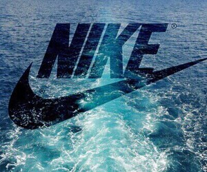 blue, nike, and water image