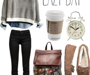outfit, clothes, and Lazy image