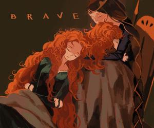 brave, disney princess, and merida image