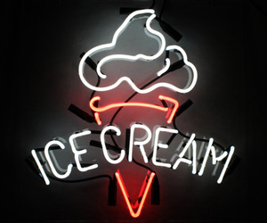 neon, ice cream, and light image