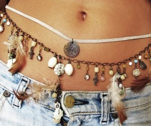 belly, boho, and feather image