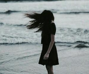 girl, sea, and hair image