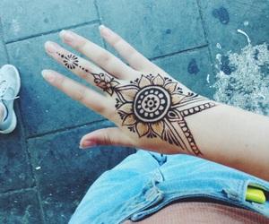 boho, henna, and summer image